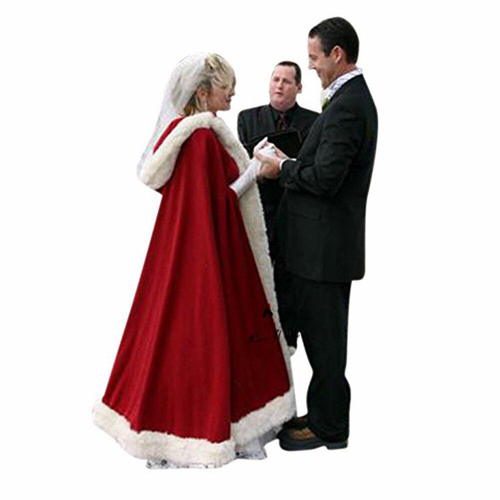 Weihnachten Maß Red Faux Fur Wrap Braut Cape Warm Hochzeit Mäntel ...