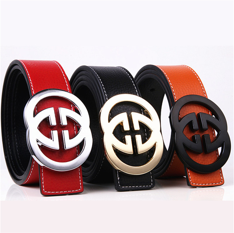 Luxury Cowskin   Belts   For Men High Quality Genuine Leather Smooth G Buckle Women   Belt   Fashion Designer ceinture homme