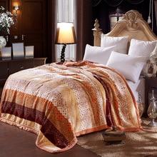 Pacific Textile blanket per square 4.2kg raschel blanket fabric blanket on bed