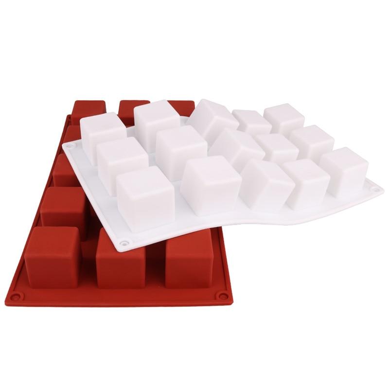 DIY Cake Tool Magic Square Silicone Cake Mold Rubiks Cube Chocolate Mousse Cake Silicone Cake Mould Dessert Baking Tools2