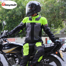 Motorcycle Jacket Racing Suit Windproof Protective Gear Armor Jacket+Motorcycle Pants Hip Protector Moto Clothing Set