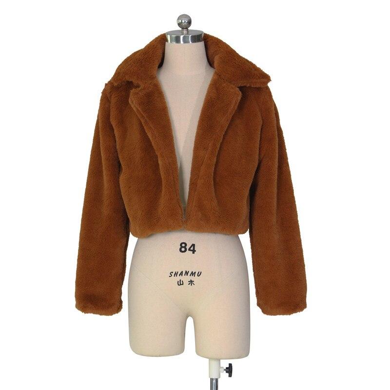 autumn winter faux fur coat short jacket-16