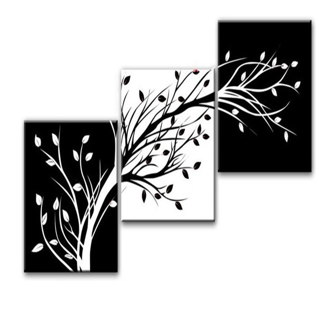 Aliexpress Com Buy Piece Wall Art Modern Abstract Black And
