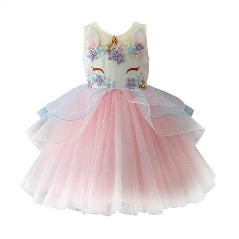 Feliz Aniversário Traje Novo da menina da Chegada Vestido de Princesa Vestidos de Festa de Natal Outfits Outwear Roupas Da Menina das Crianças do Miúdo