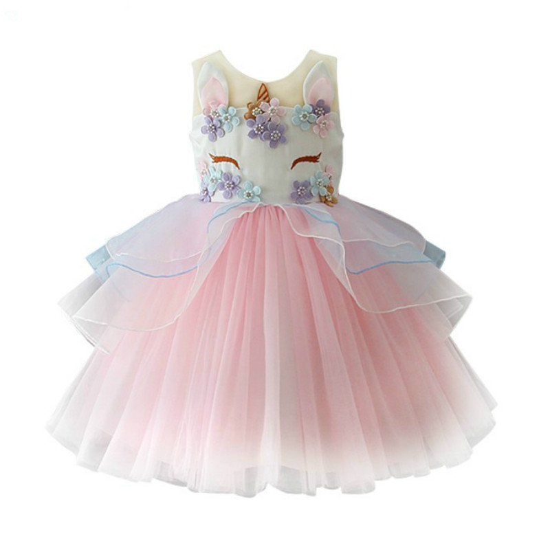 Feliz cumpleaños traje nueva llegada de la princesa vestido vestidos de fiesta trajes de navidad niños Outwear niños ropa de niña