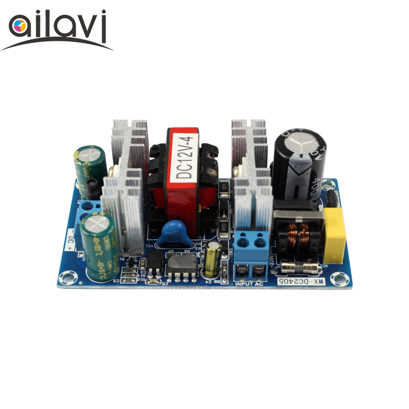 Industrial Grade AC100V-240V 110V 220V To DC12V 4A Switching Power Supply Module Low Ripple AC-DC Power Supply Bare Board
