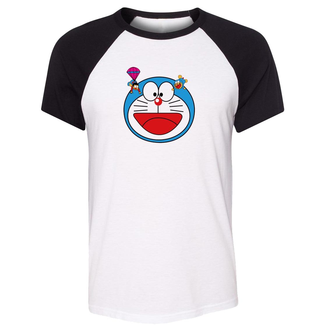 Design shirt japan - Idzn Unisex Summer T Shirt Japan Cartoon Doraemon Nobita Nobi Art Pattern Design Raglan Short