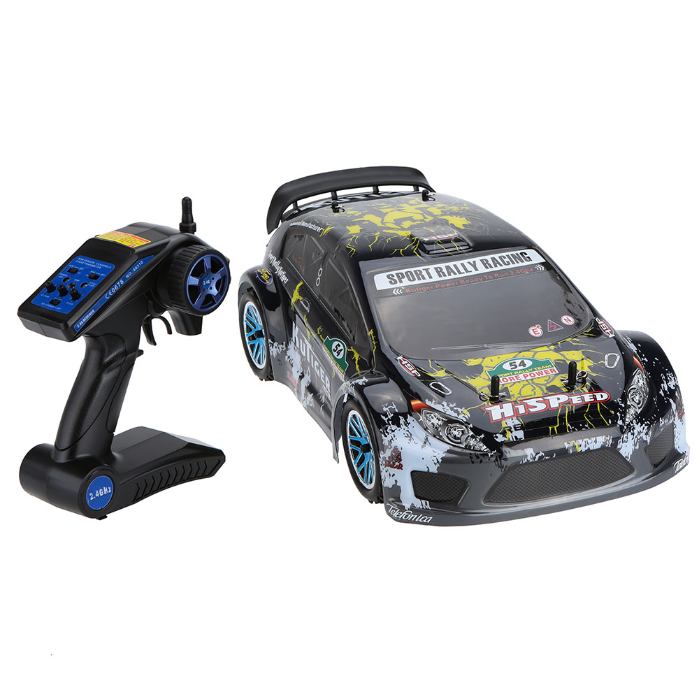 Original HSP 94177 Nitro Powered Off-road Sport Rally Racing 1/10 Scale 4WD RC Car KUTIGER Body with 2.4Ghz 2CH Transmitter RTR