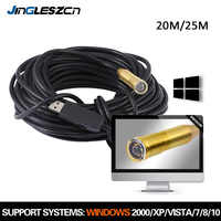 14.5mm 25 M USB Endoscoop Camera USB Borescope Snake Camera IP67 Waterdichte Inspectie Camera Voor PC Windows, macbook OS