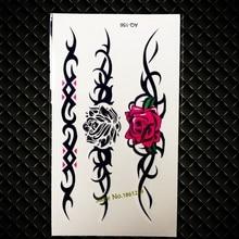 Style Waterproof Fake Rose Flower Arm Tattoo Paste For Women Henna Tatoo Body Neck Art Temporary Tattoo Stickers GAQ-156
