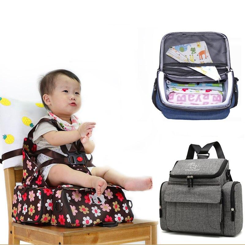 Bébé siège de sécurité Portable bébé à manger chaise enfant alimentation chaise harnais rehausseur siège multi-usage maman sac couche sac à dos siège