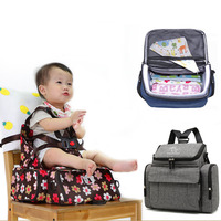 Baby Safety Seat Portable Baby Dining Chair Child Feeding Chair Harness Booster Seat Multi use Mommy Bag Diaper Backpack Seat