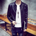 LQ19 Casual Stand Collar Winter Leather Jacket Men Mens Leather Jackets And Coats Pilot Leather Jacket Men