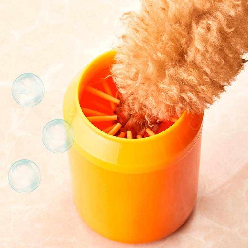 Приспособление для очистки лап-чашек для собак Мягкие силиконовые расчески портативный очиститель лап-чашек для домашних животных Чистящая Щетка Для Чистки лап быстрое мытье грязного кота ведро для уборки ног