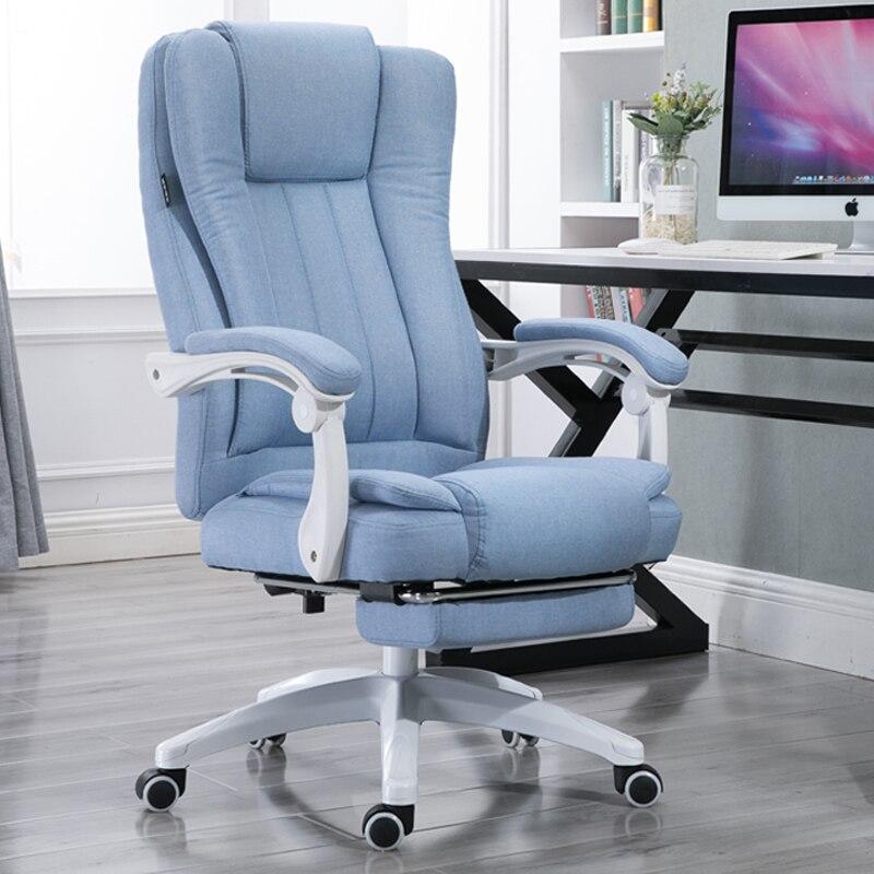 цена EU Fabric Art Home Computer Can Lie Staff Member Meeting Cowhide Boss Genuine Leather Massage Chair Bow To Work In An RU