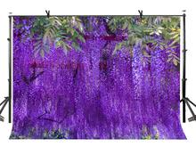 150x220cm Purple Plant Backdrop Beautiful Lush Photography Background for Camera Photo Props
