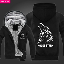 BOOCRE Game Of Thrones House House Stark Direwolf Hoodies Jacket A Song Of Ice And Fire House Cardigan Hoodies Jacket Coat