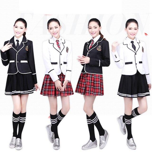 22286cbe196b24 Enfants uniforme scolaire de vêtements et manches longues chœur de l école  primaire étudiants lecture