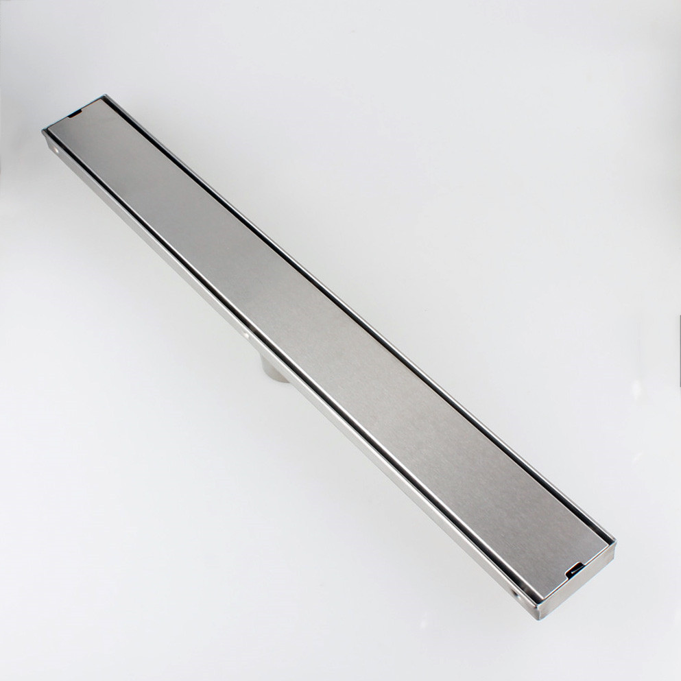 Stainless Steel Floor Linear Shower Drain Bathroom Wetroom Channel Tile 60 80cm