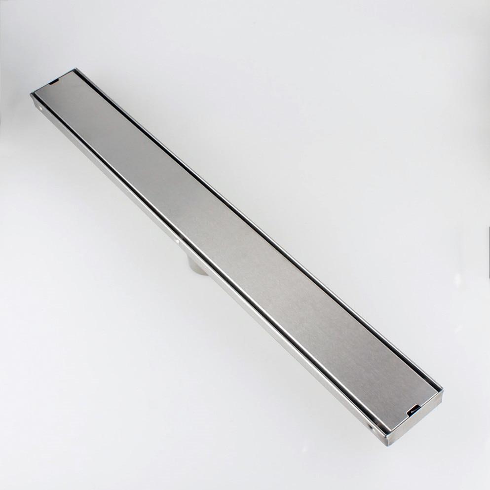 Escurridor lineal de ducha de acero inoxidable SUS304 de 24 pulgadas/60 cm, escurridor de suelo de cuarto de baño incrustado 11-212 Rejilla para escurrir fregadero de acero inoxidable para cocina, estante de cocina, vajilla DIY, estante de drenaje seco para cubiertos, de 2 capas estante de almacenamiento, organizador de la despensa