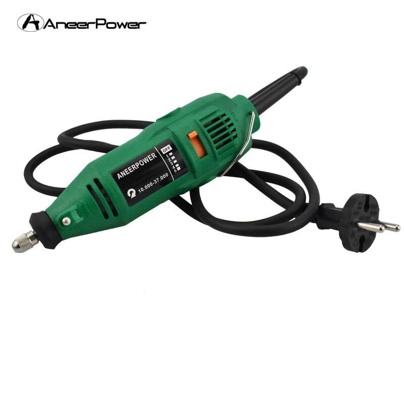 купить 180W Electric Rotary dremel Tools Grinder Engraving Grinding Polishing Machine Drill ElectricMachine Power Mini DIY Drill по цене 1108.38 рублей