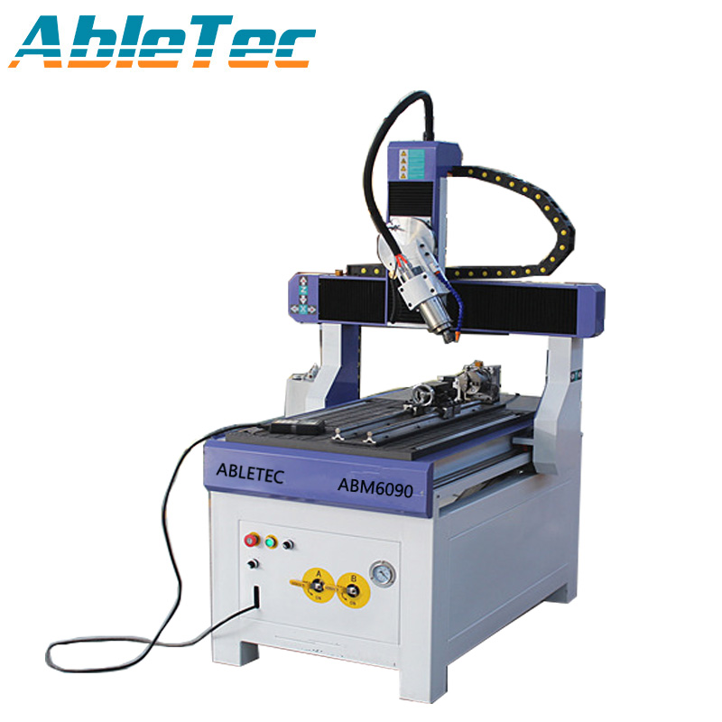 AbleTec Hot Sale Accuracy Small Advertising 3d Cnc Wood MDF Engraving Machine 4axis/5axis Xnx Router ABM6090