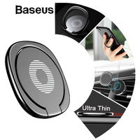 Baseus Metal Finger Ring Holder For iPhone XS 8 Samsung Phone Ring Mobile Phone Holder Stand For Magnetic Car Phone Holder Stand Mobile Phone Holders & Stands