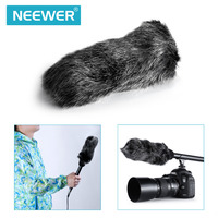 Neewer 14 inches Uni Directional Shotgun Mono PRO Condenser Microphone with Furry Windscreen Muff for Canon/Nikon/Sony Camcorder