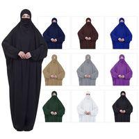 f3199d26e574 2019 New Prayer Clothing Kaftan With Hijab Robe Arabian Women Bat Sleeve  Middle East Robe Islamic. 2019 Nova Roupas Oração ...