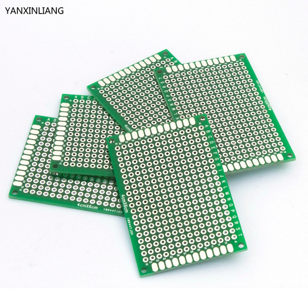 10pcs high quality!! double side prototype pcb diy universal printed10pcs high quality!! double side prototype pcb diy universal printed circuit board 4x6cm hot sale in integrated circuits from electronic components