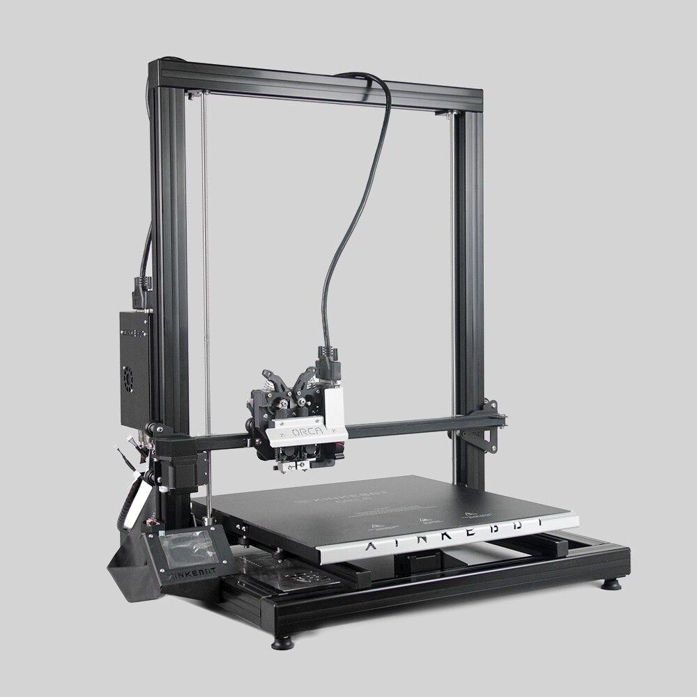 Xinkebot Orca 2 Cygnus Haute Qualité Grand 3D Imprimante 400x400x500mm Impression Taille Double Extrudeuse En Aluminium chaleur Lit avec Couvercle