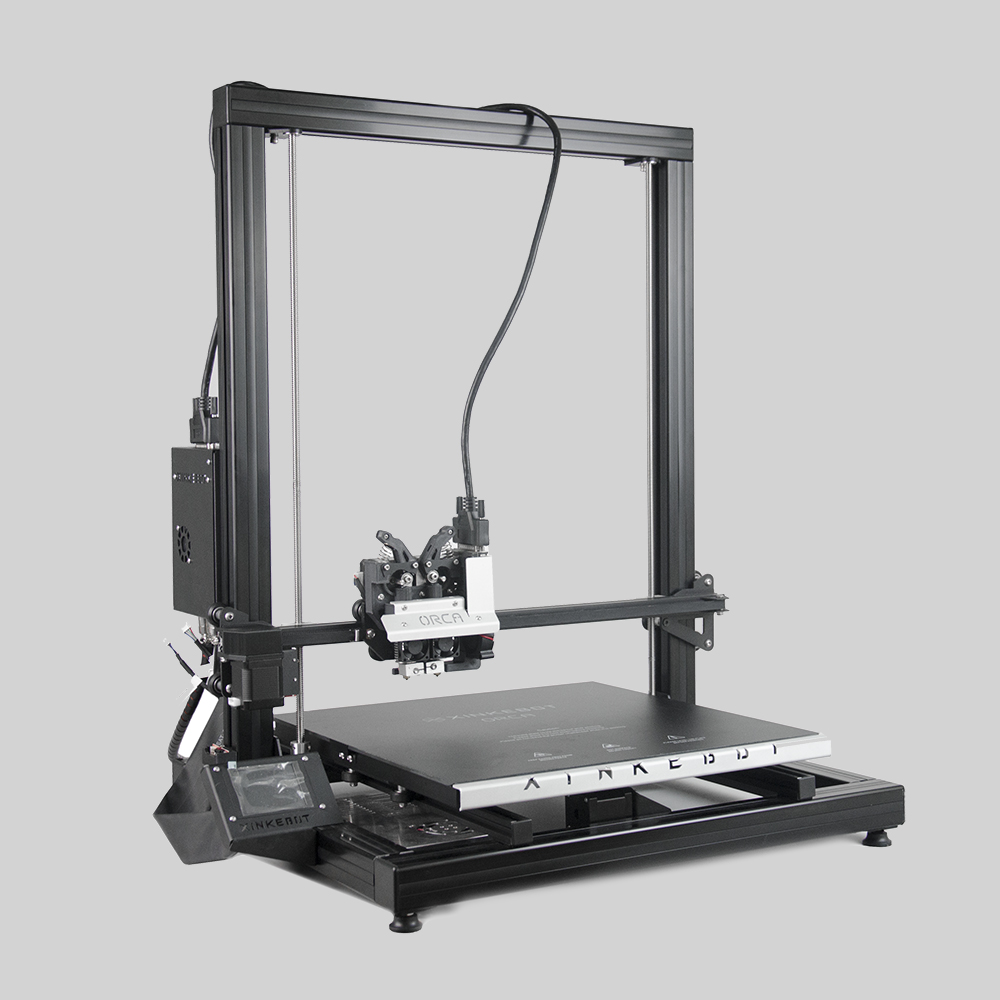 Xinkebot Orca 2 Cygnus High Quality Large 3D Printer 400x400x500mm Printing Size Dual Extruder Aluminum Heat Bed with Cover xinkebot 3d printer orca2 cygnus dual extruder high resolution big impressora 3d with free filament
