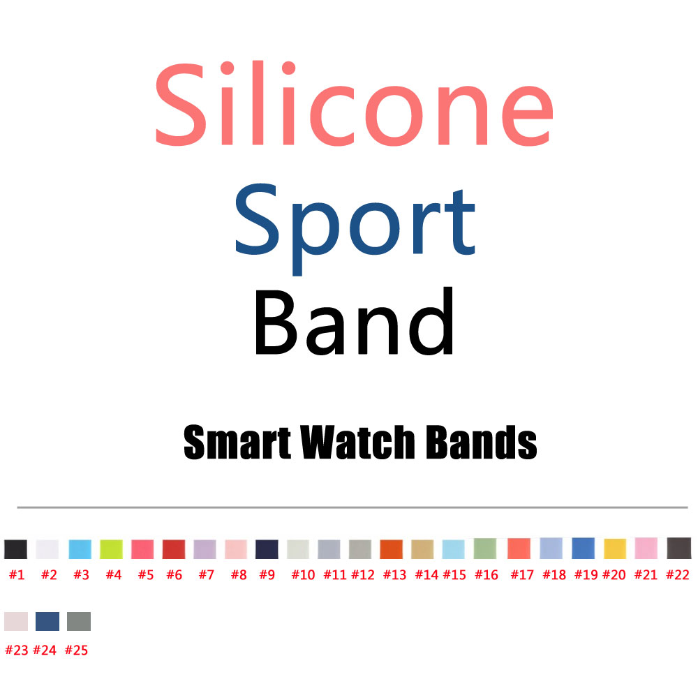 2017 New Colors Pink Sand Cocoa Silicone Sport Band for font b Apple b font font