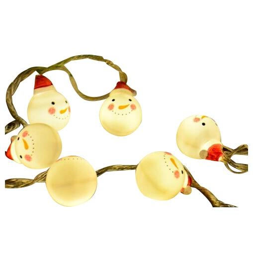 10 <font><b>Led</b></font> 1M Fairy A snowman with a hat <font><b>Battery</b></font> Operated <font><b>String</b></font> <font><b>Lights</b></font> Decoration For Christmas