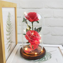 Светящиеся искусственные свежие розы ledusb романтический декоративный