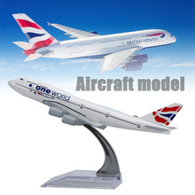 WR UK A380 Mini Airplane Model Home Decoration British Airways Aircraft Model Ornamentation Toy For Christmas Gifts(China)