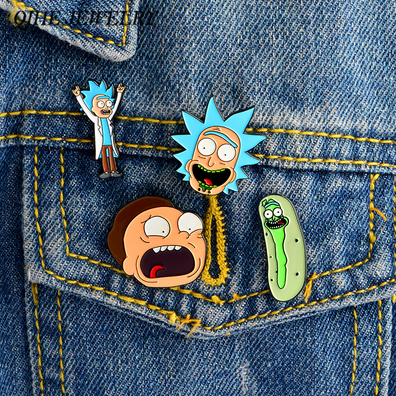 Apparel Sewing & Fabric Adaptable 1 Pcs Cartoon Colorful Animal Metal Badge Brooch Button Pins Denim Jacket Pin Jewelry Decoration Badge For Clothes Lapel Pins