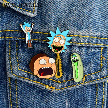 Rick and Morty 4pcs Pin Set