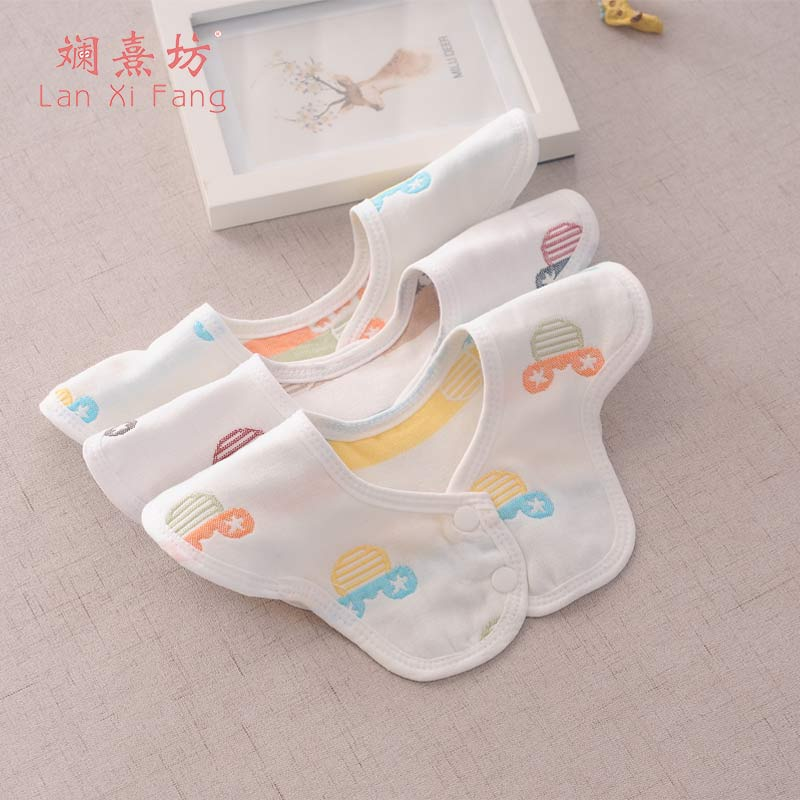 Newborn Burp Cotton Baby Baby Saliva Towel Babero Baby Styling Swivel Bib Baby Bib Babadores Slabbetjes Random 0-2Y