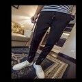 Падение мужская новые ноги шаровары плюс размер повседневная дикий мода высокая эластичность бесплатная доставка