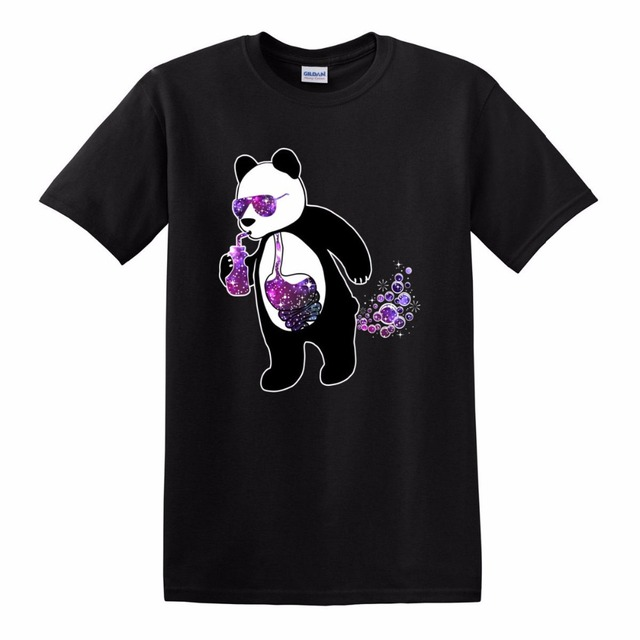 1c5043b79aa Men s T-Shirt Panda Riot Society Cosmic Drink Bubbles Funny Graphic  Sunglasses Print Tees Short Sleeve O-Neck