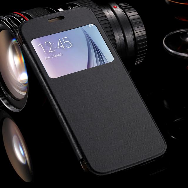 Galaxy S6 S6 Edge S8 /S8 Plus Cover Flip Leather Phone Cases For Samsung Galaxy S6 S6 Edge Plus S7 S7 Edge
