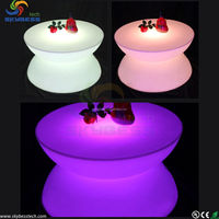 LED Table Lighting Illuminated Bar Tables RGB LED Bar Table SK LF16 D80 H44cm Free Shipping