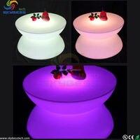 LED Table Lighting Illuminated Bar Tables RGB LED Bar Table SK LF16 D80 H44cm Free Shipping
