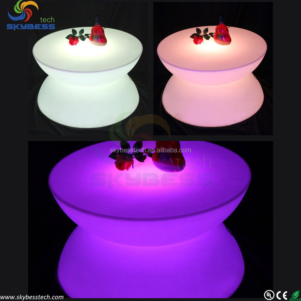 LED Table Lighting, Illuminated Bar Tables,RGB LED Bar Table SK-LF16 (D80*H44cm) Free Shipping 1pc