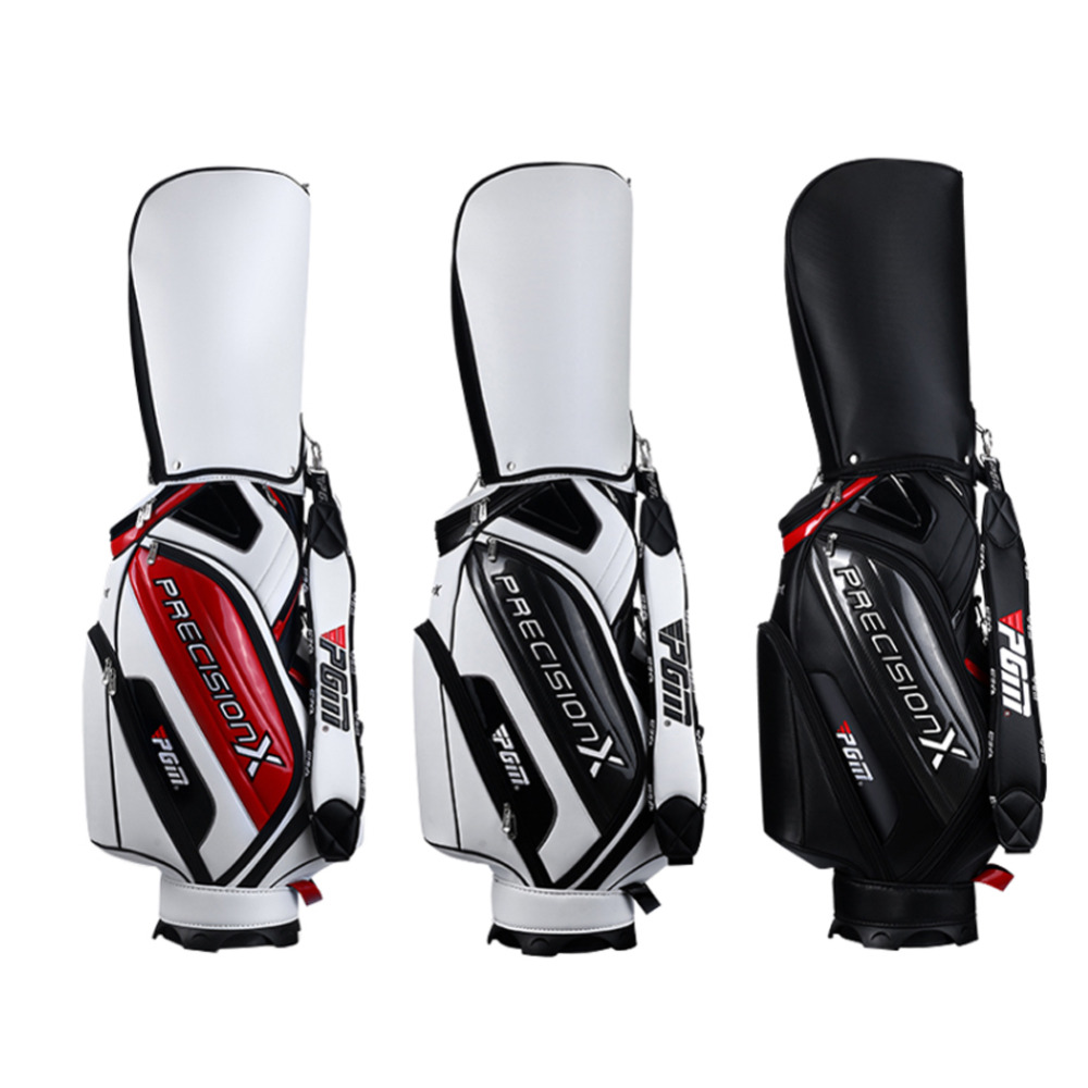 CRESTGOLF Golf Standard Bag High Quality  PU Waterproof Golf Bags with 3 colors polo authentic high quality golf gun bags pu waterproof laoke lun men travelling cover 8 9 clubs 123cm golf bolsa de sport bag