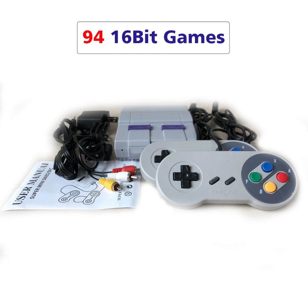 10pcs/lot 16 Bit Mini TV Game Console Support AV Retro Video Game Console Built-In 94 16bit Games Handheld Gaming Player NTSC