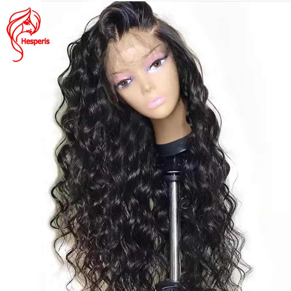 Hesperis 13x6 парики на шнурках бразильские волосы remy кружевные передние человеческие волосы парики для женщин предварительно сорванные парики с волосами младенца