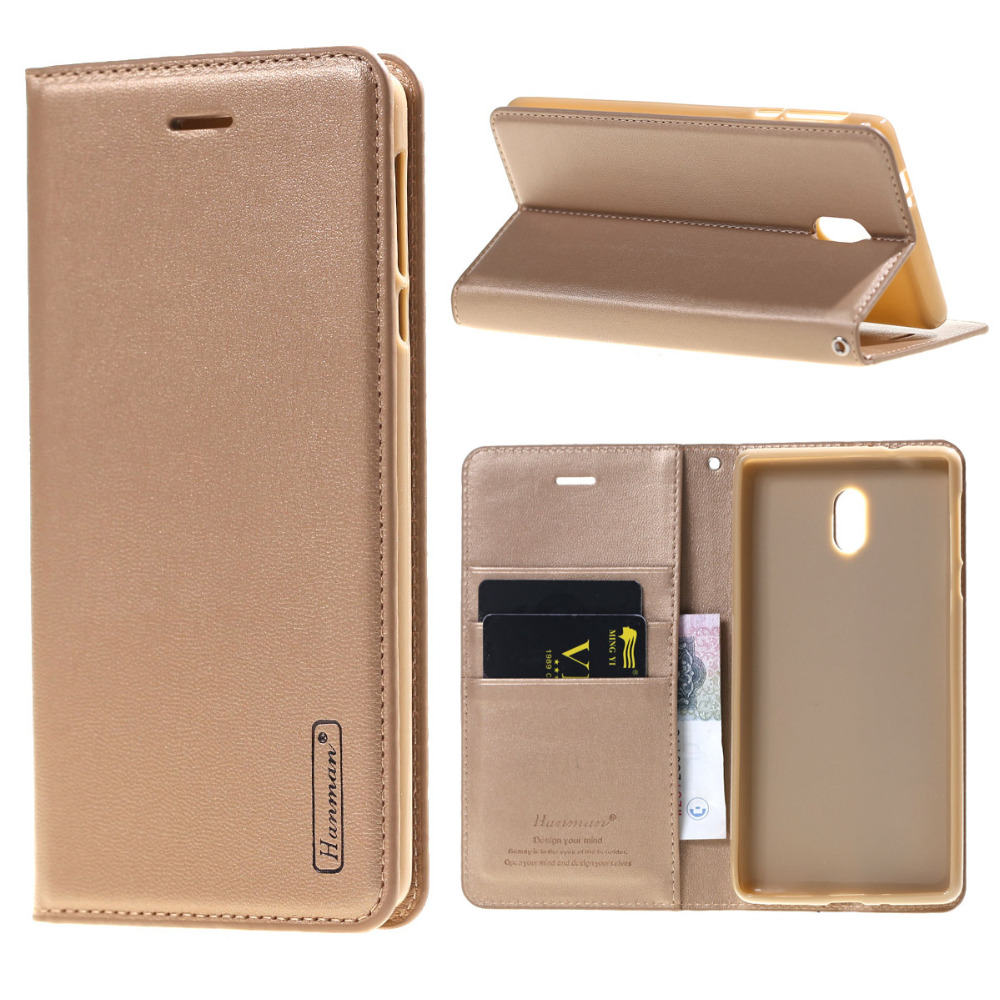 Hanman For Nokia 3 5 6 Case Luxury Leather Wallet Flip Stand Cover Case For Nokia 6 Case Mobile Phone Cases Coque Fundas