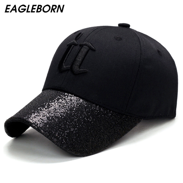 8cabd78f3eb3ad 2019 EAGLEBORN Brand New Bling baseball cap men women snapback diamond  boutique embroidery U Fashion Casual cotton cap hats